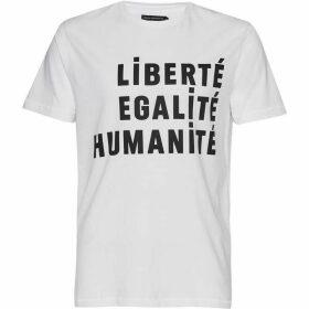 French Connection Egalite Slogan Cotton T-Shirt