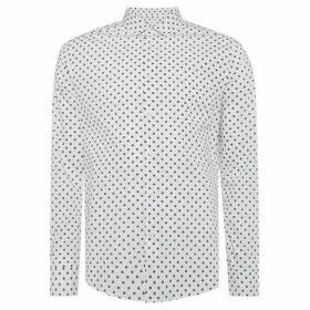 Linea Chester Cross Hatch Spot Print Shirt