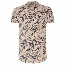 Linea Leon Large Scale Leaf Print Shirt