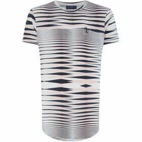 Religion Distorted Stripe T-Shirt