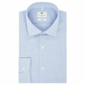 Richard James Puppytooth Gingham Slim Fit Shirt
