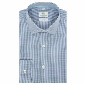 Richard James Dobby Stripe Slim Fit Shirt