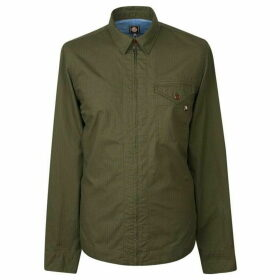 Pretty Green Zip Front Shirt With Back Print