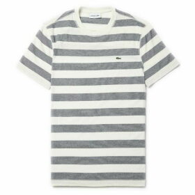 Lacoste Crew Neck Striped Cotton Jersey T-Shirt