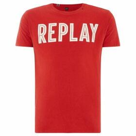 Replay Round Ribbed Neckline T-Shirt