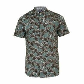 Ted Baker Swarm SS Tiger Print Shirt