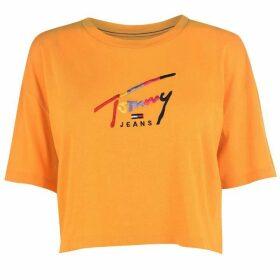 Tommy Jeans TJW Crop Script T Ld92