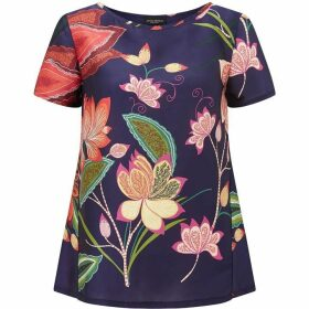 James Lakeland Floral Print Top