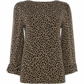 MICHAEL Michael Kors Elevated leopard frill top