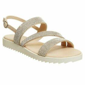 Office Shake Embellished Strappy Sandals
