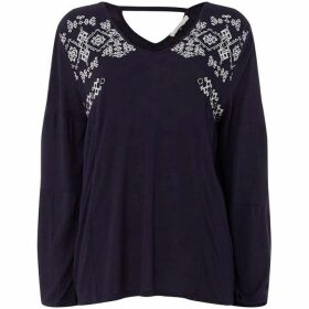 Maison De Nimes EMBROIDERED JERSEY TOP