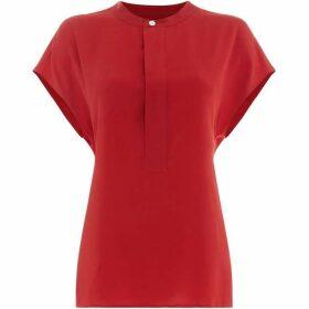 Polo Ralph Lauren Short Sleeve Silk Blouse