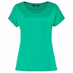Hallhuber Basic Tee With Plunging Neckline