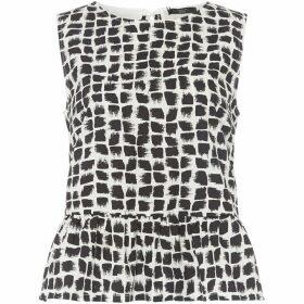 Max Mara Weekend Abstract tile print sleeveless top