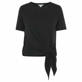 Whistles Cupro Side Tie Tee