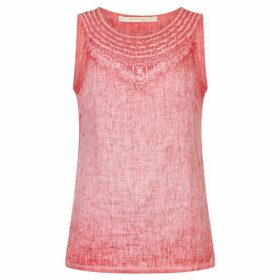 Nougat Tiger Lily Crochet Vest