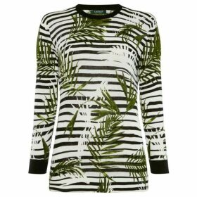 Lauren by Ralph Lauren Meggie striped palm sweater