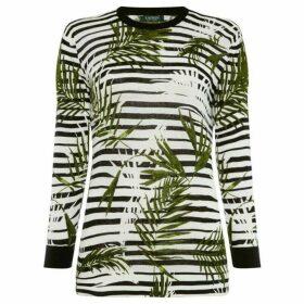 Lauren by Ralph Lauren Meggie striped palm sweater