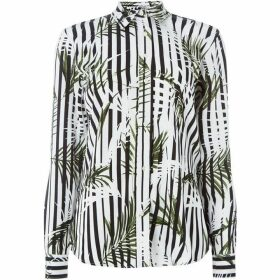 Lauren by Ralph Lauren Striped palm shirt