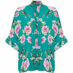 Yumi Oriental Floral Kimono