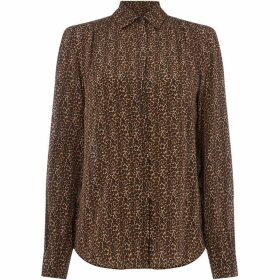 Max Mara Weekend Collared duel print shirt