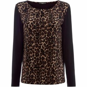 Max Mara Weekend Leopard print crew neck top