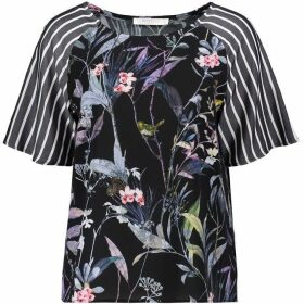 Betty Barclay Floral And Stripe Print Top