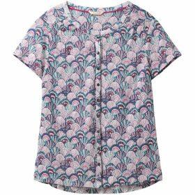 White Stuff Krissie Linen Jersey Shirt