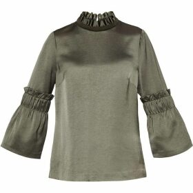 Ted Baker Myani Frilled Sleeve High Neck Top