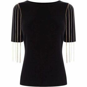 Karen Millen Chain Tassel T-Shirt
