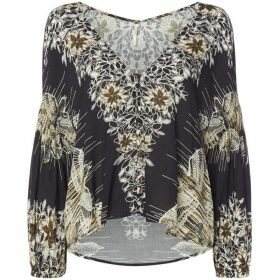 Free People Birds of A Feather Printed Top