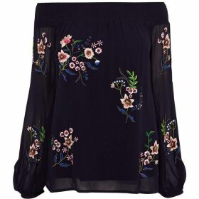 Karen Millen Floral Bardot Top