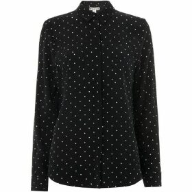 Whistles Spot Print Pocket Shirt