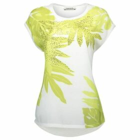 Betty Barclay Embellished Leaf Print Top