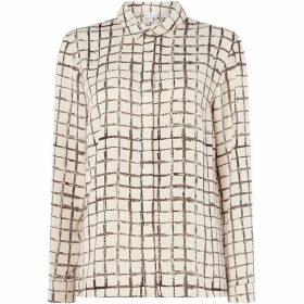 Linea Tori grid print shirt