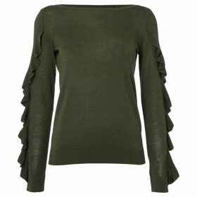 Lauren by Ralph Lauren Robinette ruffle sleeve sweater