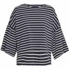 French Connection Tim Tim Cropped Bell Sleeve Top