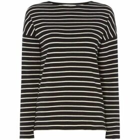 People Tree Carol Stripe Crew Neck Top