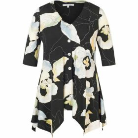 Chesca Abstract Floral Printed Jersey Top