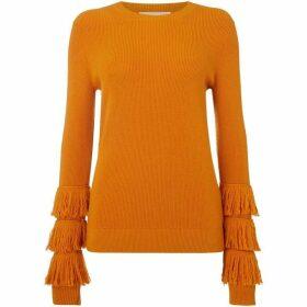 MICHAEL Michael Kors Shaker fringe crew sweater