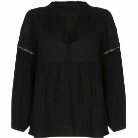 Yumi Lace Shoulder Smock Top
