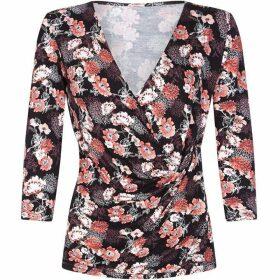 Yumi Floral Jersey Wrap Top