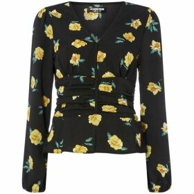 Fashion Union Floral V neck top