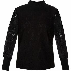 Ted Baker Dilly Lace High Neck Half Sleeve Top