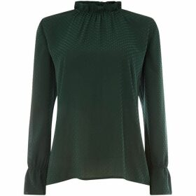 Another Label Delancy flock long sleeve top