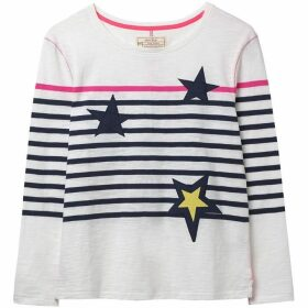 White Stuff Star Stripe Jersey Tee