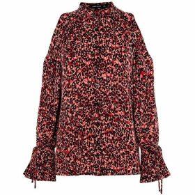 Karen Millen Relaxed Leopard Print Shirt
