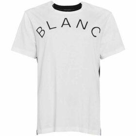 French Connection Blanc Et Noir Slogan T-Shirt