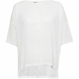 French Connection Vlore Sheer Jersey Tie Front Top