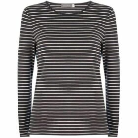 Mint Velvet Navy Side Stripe Tee